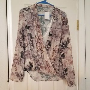 New floral long sleeve top